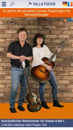 Vorschau der mobilen Webseite www.villa-fuchs.de, Villa Fuchs
