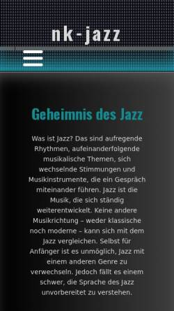 Vorschau der mobilen Webseite www.nk-jazz.de, JFN Jazz Förderverein Neunkirchen