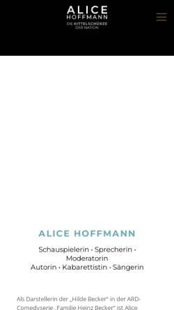 Vorschau der mobilen Webseite www.alicehoffmann.de, Hoffmann, Alice