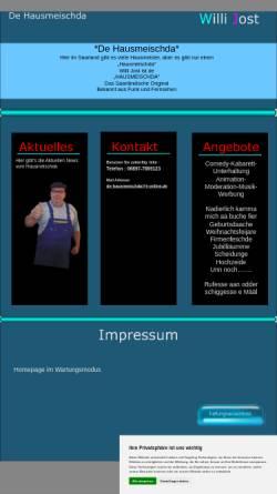 Vorschau der mobilen Webseite www.dehausmeischda.de, Jost, Willi