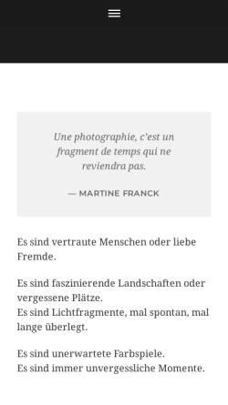 Vorschau der mobilen Webseite www.sandrine-klein.de, Klein, Sandrine Fotografie