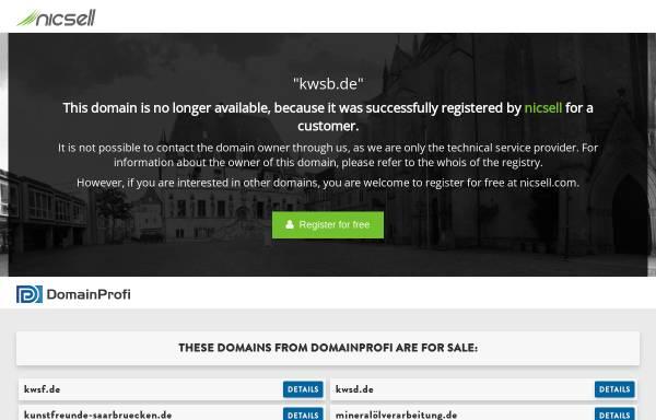 Vorschau von www.kwsb.de, Kunstwerk Saarbrücken GmbH Bistro Malzeit