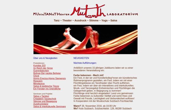 Vorschau von www.bodenstaendig.de, Mutanth Musiktanztheater-Laboratorium