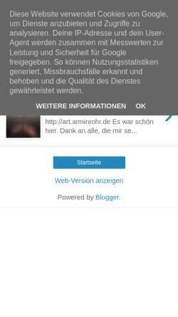 Vorschau der mobilen Webseite arminrohr.blogspot.de, Rohr, Armin Freier Maler Ensheim