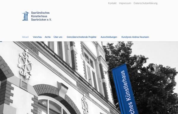 Vorschau von kuenstlerhaus-saar.de, Saarländisches Künstlerhaus