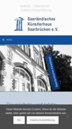 Vorschau der mobilen Webseite www.kuenstlerhaus-saar.de, Saarländisches Künstlerhaus
