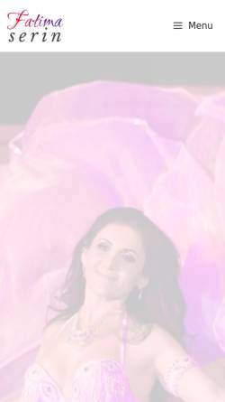 Vorschau der mobilen Webseite fatimaserin.de, Serin, Fatima: Orientalischer Tanz