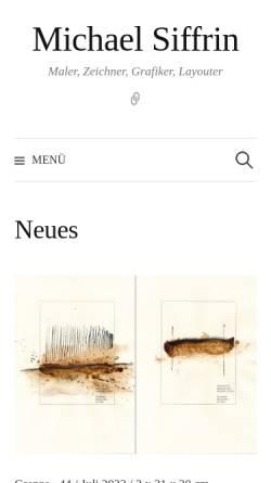Vorschau der mobilen Webseite michaelsiffrin.de, Siffrin, Michael