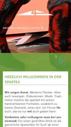 Vorschau der mobilen Webseite www.sparte4.de, Sparte4