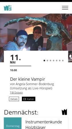 Vorschau der mobilen Webseite www.mittelsaechsisches-theater.de, Mittelsächsisches Theater Freiberg/Döbeln