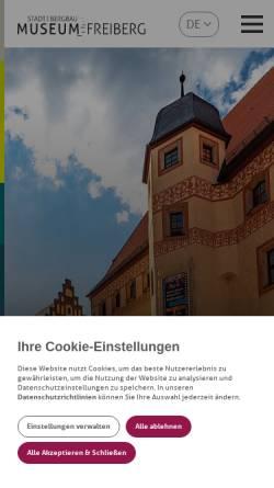 Vorschau der mobilen Webseite museum-freiberg.de, Stadt- und Bergbaumuseum Freiberg