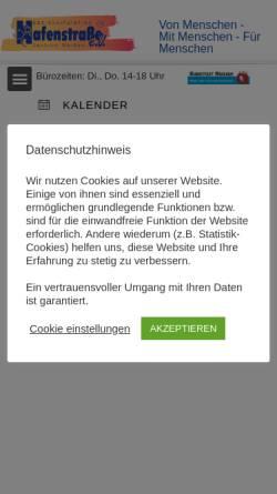 Vorschau der mobilen Webseite www.hafenstrasse-meissen.de, Hafenstrasse e. V.