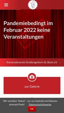Vorschau der mobilen Webseite www.st-bock.de, Karnevalverein