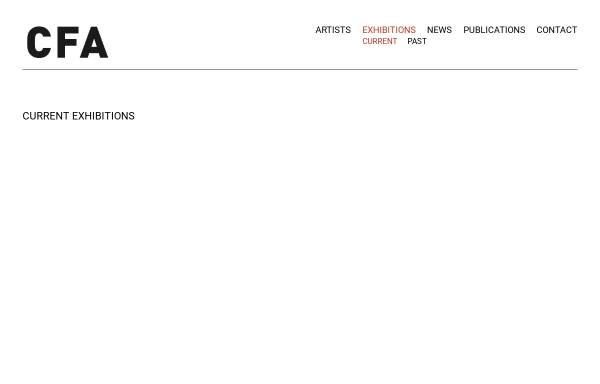 Vorschau von cfa-berlin.de, Contemporary Fine Arts - Berlin