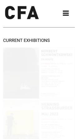 Vorschau der mobilen Webseite cfa-berlin.de, Contemporary Fine Arts - Berlin
