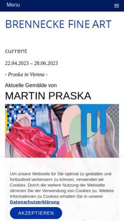 Vorschau der mobilen Webseite galerie-brennecke.de, Galerie Brenneke