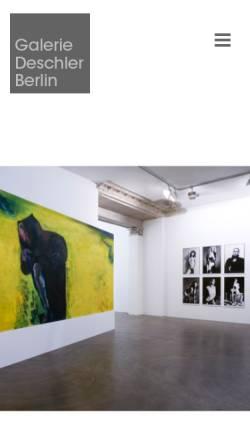 Vorschau der mobilen Webseite www.deschler-berlin.de, Galerie Deschler