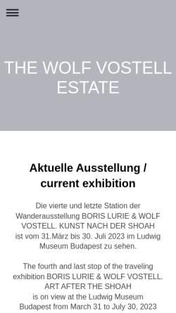 Vorschau der mobilen Webseite www.vostell.de, Galerie Vostell