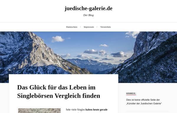 Vorschau von juedische-galerie.de, Jüdische Galerie