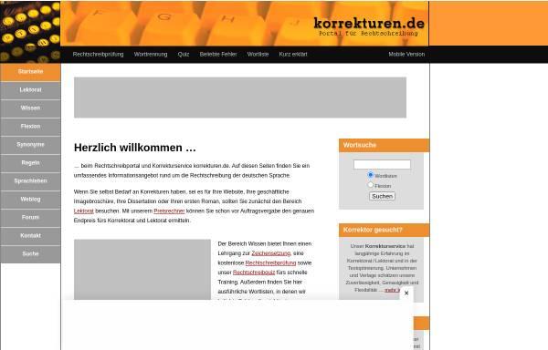 Vorschau von www.korrekturen.de, Julian von Heyl