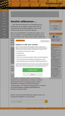 Vorschau der mobilen Webseite www.korrekturen.de, Julian von Heyl