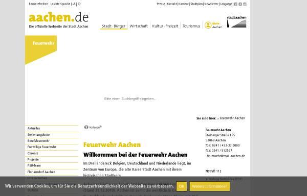 Vorschau von www.aachen.de, Feuerwehr Aachen