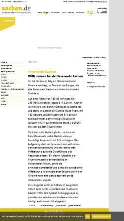 Vorschau der mobilen Webseite www.aachen.de, Feuerwehr Aachen