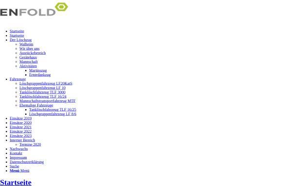 Vorschau von www.loeschzug-walheim.de, Freiwillige Feuerwehr Aachen - Löschzug Walheim