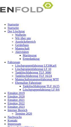 Vorschau der mobilen Webseite www.loeschzug-walheim.de, Freiwillige Feuerwehr Aachen - Löschzug Walheim