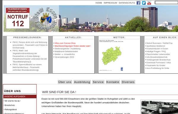 Vorschau von www.feuerwehr-essen.com, Berufsfeuerwehr Essen