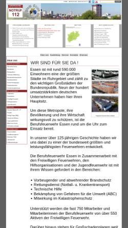 Vorschau der mobilen Webseite www.feuerwehr-essen.com, Berufsfeuerwehr Essen