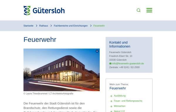 Vorschau von www.feuerwehr-guetersloh.de, Freiwillige Feuerwehr Gütersloh
