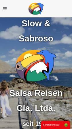 Vorschau der mobilen Webseite www.salsareisen.com, Salsa Reisen, Quito