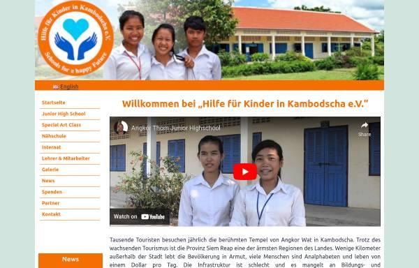 Vorschau von www.hilfe-fuer-kinder-in-kambodscha.org, Hilfe für Kinder in Kambodscha e.V.