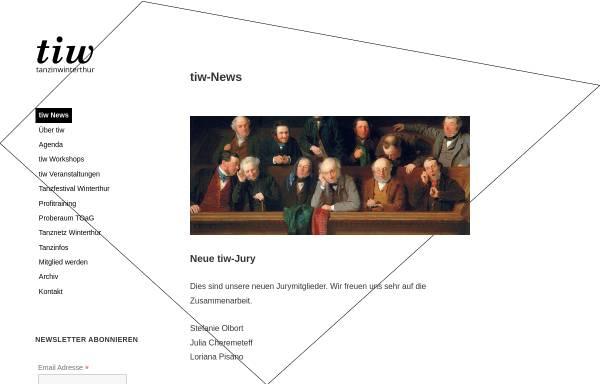 Vorschau von www.tanzinwinterthur.ch, tanzinwinterthur - Winterthur im Tanz - Verein zur Unterstützung Winterthurer Tanzaktivitäten
