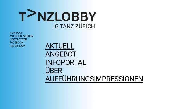 Vorschau von www.tanzlobby.ch, TanzLOBBY: IG Tanz Zürich