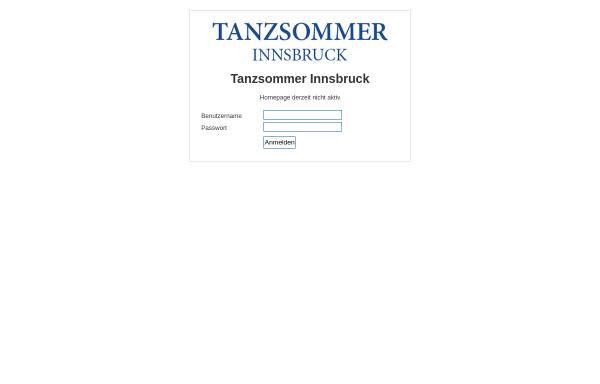 Vorschau von www.tanzsommer.at, Tanzsommer Innsbruck