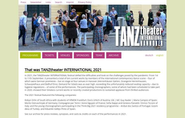 Vorschau von www.tanztheater-international.de, Tanztheater International
