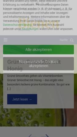 Vorschau der mobilen Webseite www.bienenjournal.de, Deutsches Bienen Journal