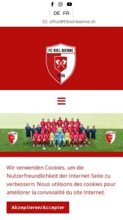 Vorschau der mobilen Webseite www.fcbiel-bienne.ch, FC Biel/Bienne