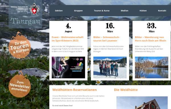 Vorschau von www.sac-tg.ch, SAC Sektion Thurgau