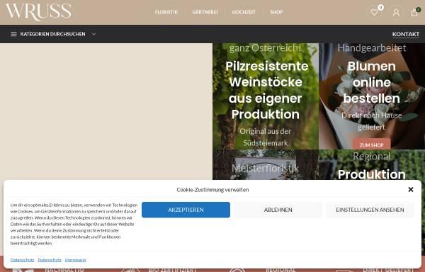 Vorschau von www.gartenbau-wruss.at, Gartenbau Wruss