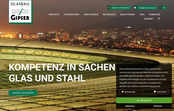 Vorschau von www.glasbau-gipser.de, Michael Gipser Glas- und Fensterbau GmbH