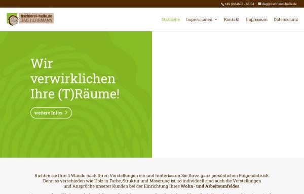 Vorschau von www.tischlerei-halle.de, Vereinigte Tischlereien Gesellschaft Herrmann & Kolk mbH