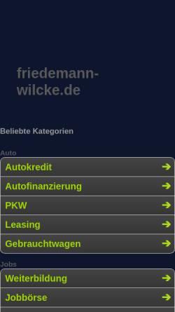 Vorschau der mobilen Webseite www.friedemann-wilcke.de, Kranich (Grus Grus)
