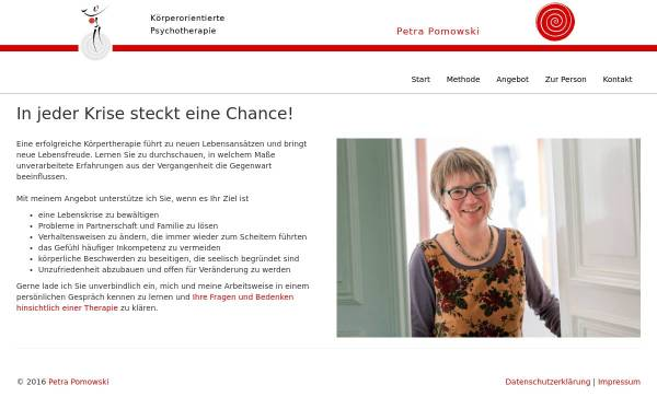 Vorschau von koerpertherapie-aachen.de, Pomowski, Petra