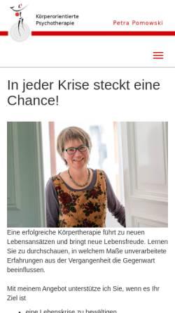 Vorschau der mobilen Webseite koerpertherapie-aachen.de, Pomowski, Petra