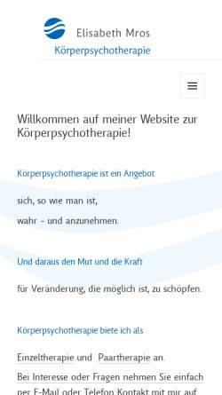 Vorschau der mobilen Webseite www.therapie-mros.de, Therapie Mros