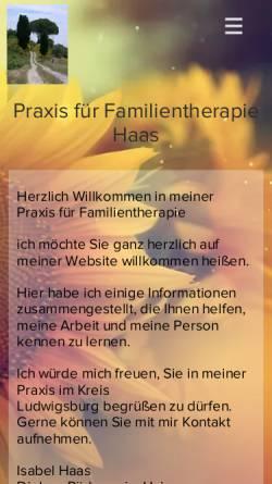 Vorschau der mobilen Webseite www.familientherapie-haas.de, Praxis für Familientherapie Haas