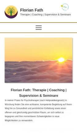 Vorschau der mobilen Webseite www.selbst-erleben.de, Florian Fath - Praxis für systemische Familientherapie
